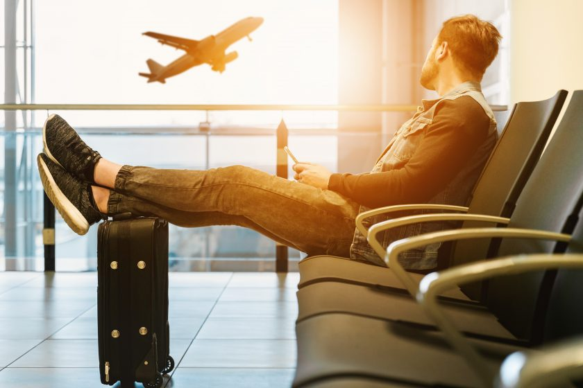 MIA Passenger Relaxing